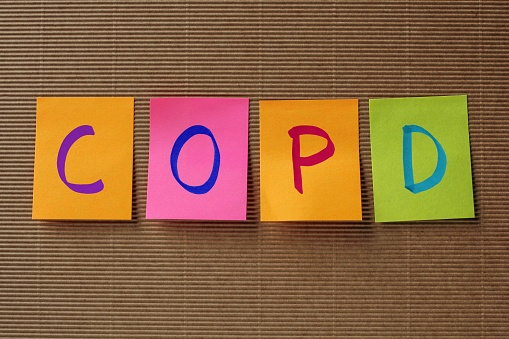 COPD on colorful sticky notes