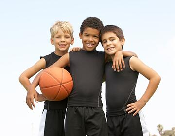 boys on basketball team