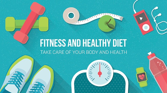 fitness and healthy diet