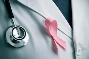 doctor with a pink ribbon