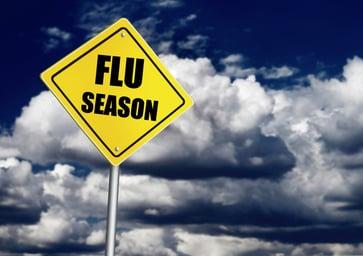 flu season sign