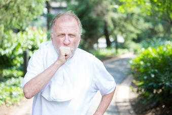 man with copd exercising