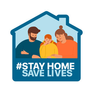 stay home save lives graphic