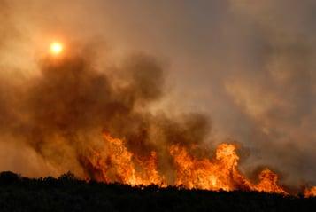 wildfire smoke - ThinkstockPhotos-147025940